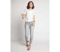 Jeans navy/weiß