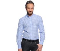 Hemd Custom Fit, hellblau/weiß kariert, Herren