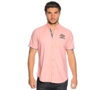 Kurzarmhemd Custom Fit, koralle, Herren