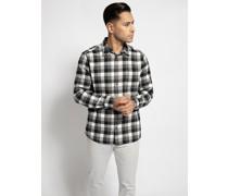 Langarm Hemd Regular Fit grau/weiß/schwarz