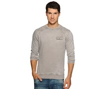 Sweatshirt, hellgrau, Herren