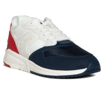Sneaker weiß/navy/rot
