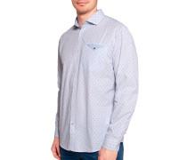 Langarm Hemd Regular Fit weiß/blau