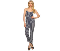 Jumpsuit, navy/weiß, Damen