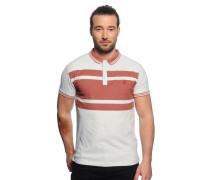 Poloshirt, hellgrau/rost, Herren