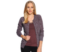 Strickjacke, lila, Damen