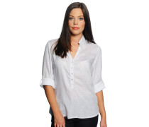 Blusenshirt, weiß/grau, Damen