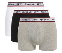 Boxershorts 3er Set grau/weiß/schwarz