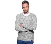 Pullover, weiß/schwarz, Herren