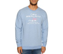 Sweatshirt hellblau meliert