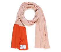 Strickschal rosa/orange