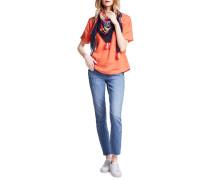Kurzarm Leinenshirt orange