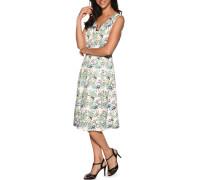 Kleid weiß/grün