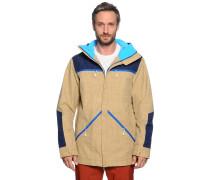 Ski-/Snowboardjacke, beige, Herren