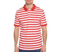 Kurzarm Poloshirt Regular Fit rot/weiß