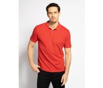 Kurzarm Poloshirt Regular Fit rot