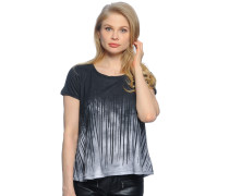 T-Shirt, schwarz/grau, Damen