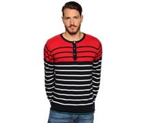 Pullover, rot/navy, Herren