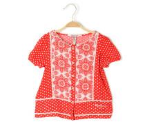 Bluse, rot/weiß, Damen
