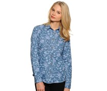 Bluse, blau, Damen