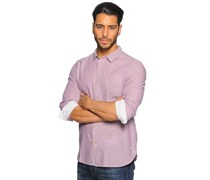 Hemd Regular Fit, mauve, Herren