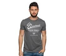 T-Shirt, dunkelgrau melange, Herren