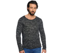 Pullover, schwarz meliert, Herren