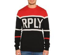 Pullover rot/schwarz