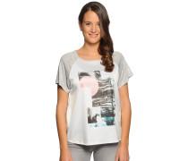 T-Shirt, weiß/grau meliert, Damen