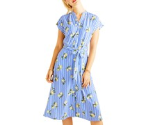 Kleid blau/weiß