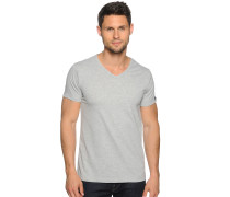 T-Shirt 2er Set, grau meliert, Herren