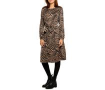 Kleid hellbraun/schwarz