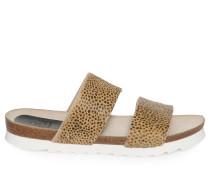 Sandalen, beige/schwarz, Damen