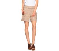 Shorts aus Leinen, beige/weiß, Damen