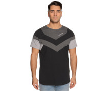 Kurzarm T-Shirt schwarz/grau