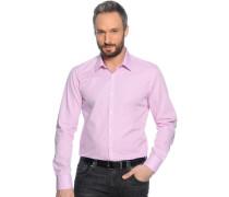 Hemd Custom Fit, rosa/weiß kariert, Herren