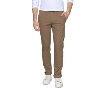 Chino Straight Fit, Braun, Herren