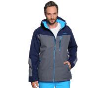 Ski-/Snowboardjacke, grau/blau, Herren