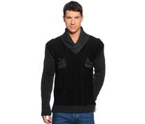 Pullover, schwarz/anthrazit, Herren