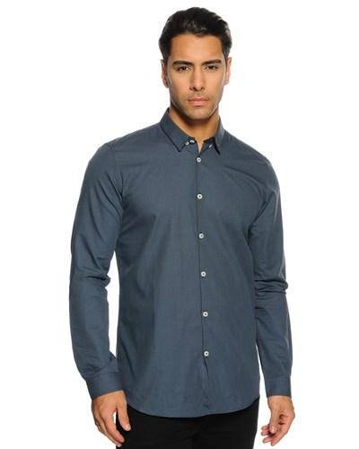 tom tailor herren hemd slim fit blau herren 50 reduziert. Black Bedroom Furniture Sets. Home Design Ideas
