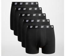 Boxershorts 5er Set schwarz