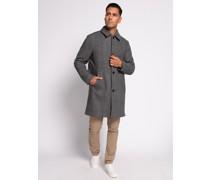 Mantel schwarz/weiß