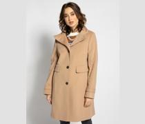 Mantel mit Kaschmiranteil hellbraun