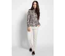 Pullover weiß/lila/schwarz