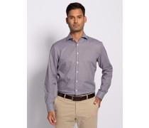 Langarm Hemd Custom Fit weiß/bordeaux/schwarz