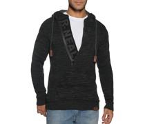 Pullover schwarz/grau meliert