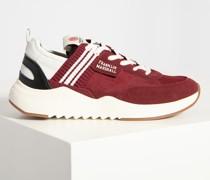 Sneaker bordeaux weiss