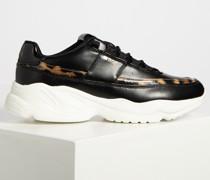 Sneaker schwarz/braun