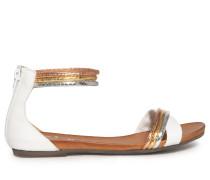 Sandalen weiß/mehrfarbig