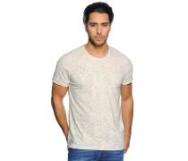 T-Shirt, weiß/beige, Herren